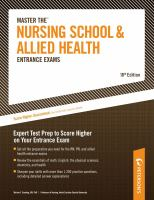 Peterson's Master the Nursing School & Allied Health Entrance Exams