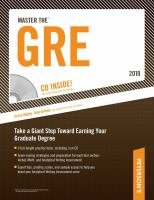 Master the GRE 2010