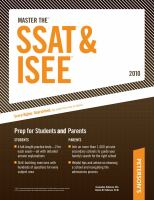 Peterson's Master the SSAT & ISEE