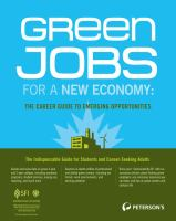 Green Jobs for A New Economy