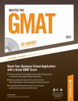 Peterson's Master The GMAT 2011