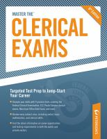 Arco Master the Clerical Exams