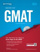 Peterson's Master the GMAT 2012
