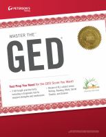 Peterson's Master the GED 2013