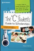 """The """"C"""" Students Guide to Scholarships"""
