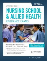 Master the Nursing School & Allied Health Entrance Exams