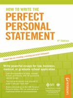 Peterson's How to Write the Perfect Personal Statement