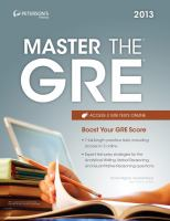 Peterson's Master the GRE 2013