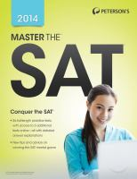Peterson's Master the SAT, 2014