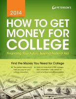 Peterson's How to Get Money for College 2014