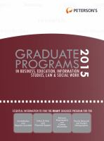 Peterson's Graduate Programs in Business, Education, Information Studies, Law & Social Work 2015