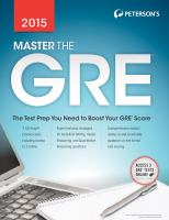 Master the GRE®, 2015
