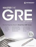 Peterson's Master the GRE