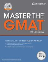 Master the GMAT®
