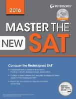 Master the New SAT
