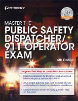 Peterson's Master The Public Safety Dispatcher/911 Operator Exam