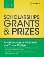 Peterson's Scholarships, Grants & Prizes 2017