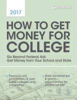 Peterson's How to Get Money for College 2017