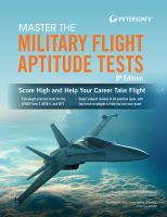 Peterson's Master the Military Flight Aptitude Tests