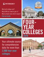 Peterson's Four-year Colleges 2019