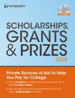 Peterson's Scholarships, Grants & Prizes, 2018