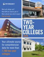 Peterson's Two-year Colleges 2018