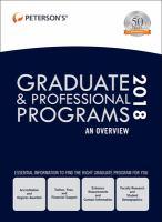 Peterson's Graduate & Professional Programs