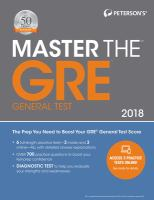 Peterson's Master the GRE General Test 2018