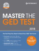 Peterson's Master the GED 2018