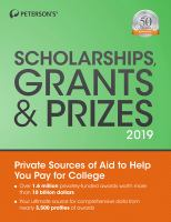Peterson's Scholarships, Grants & Prizes 2019