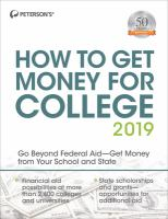 Peterson's How to Get Money for College, 2019