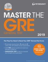 Master the GRE General Test 2019