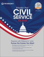 Peterson's Master the Civil Service Exams