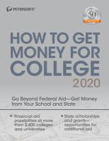 Peterson's how to get money for college 2020.