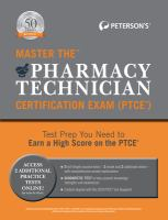 Master the Pharmacy Technician Certification Exam (PTCE)