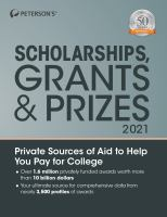 Peterson's Scholarships, Grants & Prizes 2021