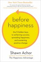 Before Happiness