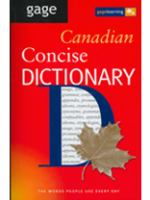 Gage Canadian Concise Dictionary