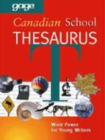 Gage Canadian School Thesaurus