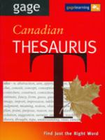 Gage Canadian Thesaurus