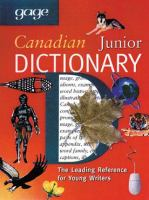 Gage Canadian Junior Dictionary