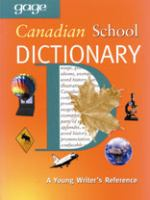 Gage Canadian School Dictionary