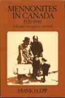 Mennonites in Canada, 1920-1940
