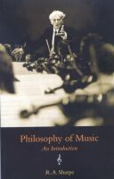 Philosophy of Music