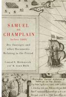 Samuel De Champlain Before 1604