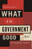 What Is Government Good At?