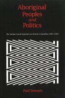 Aboriginal Peoples and Politics