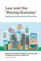 """Law and the """"sharing Economy"""""""