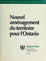 Nouvel aménagement du territoire pour l'Ontario