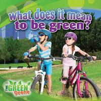 What Does It Mean to Go Green?